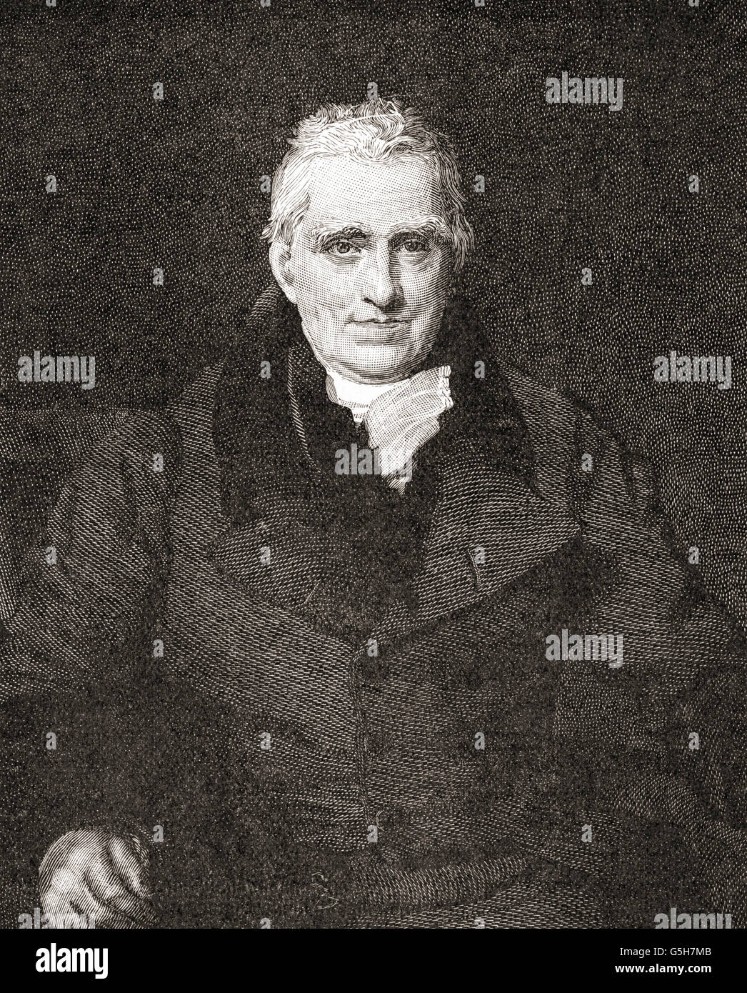John Scott, 1st Earl of Eldon, 1751 – 1838.  British barrister, politician and Lord Chancellor of England. - Stock Image