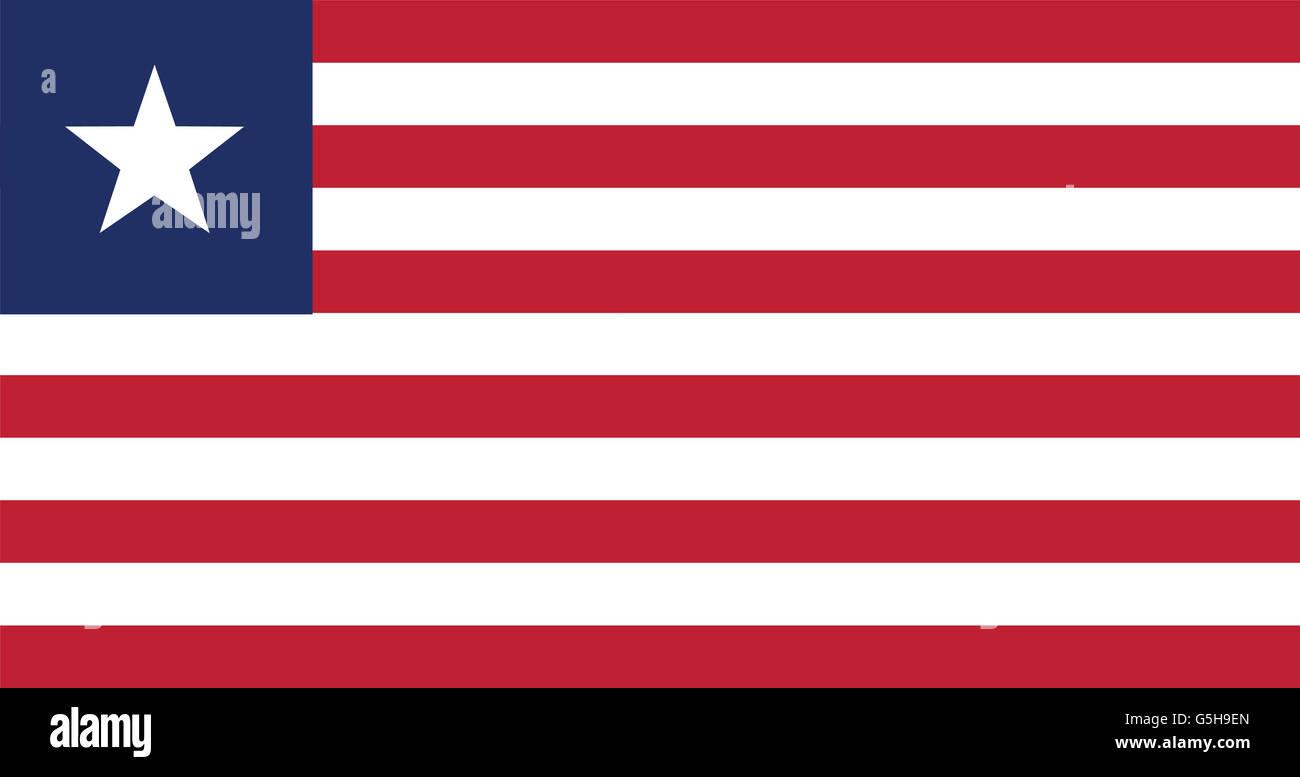 National Flag of Liberia. - Stock Image