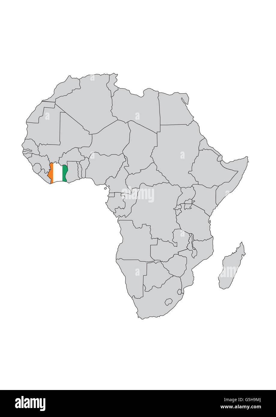 Côte d'Ivoire, Africa. - Stock Image