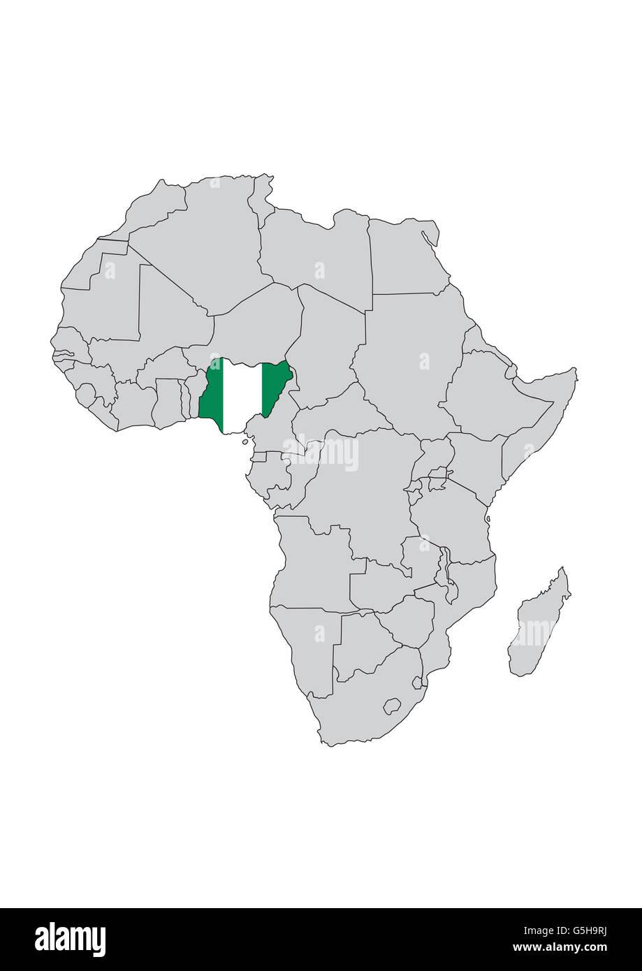 Africa Nigeria Map Stock Photos & Africa Nigeria Map Stock Images ...