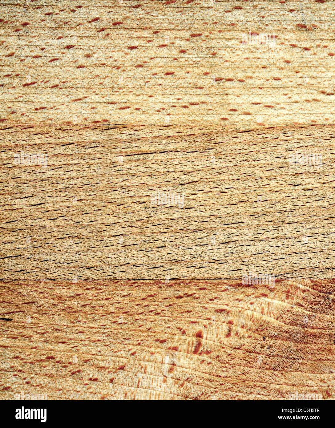 Closeup of wood brown texture with grainy structure. - Stock Image