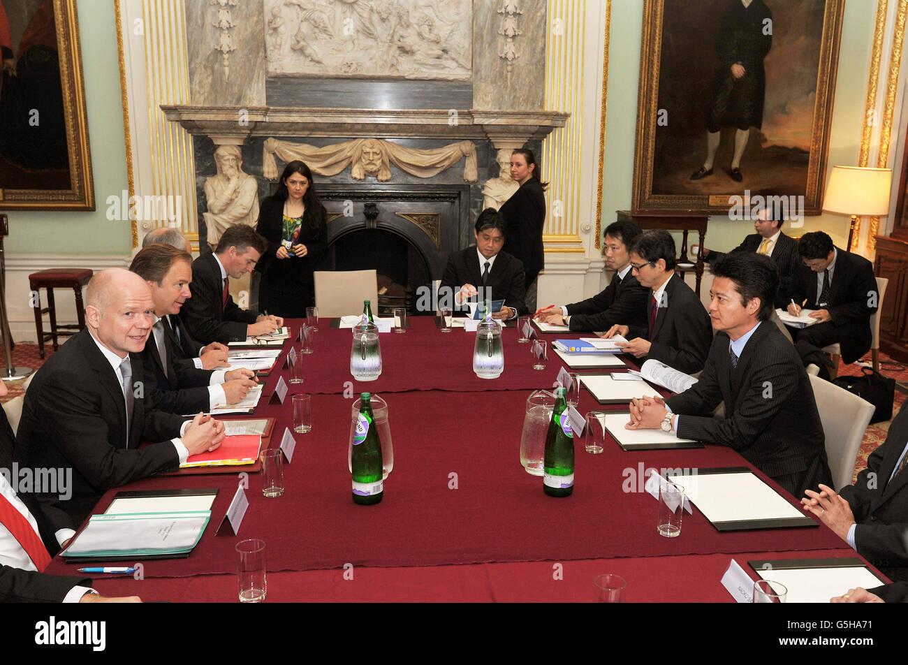 UK-Japan Strategic Dialogue meeting - Stock Image
