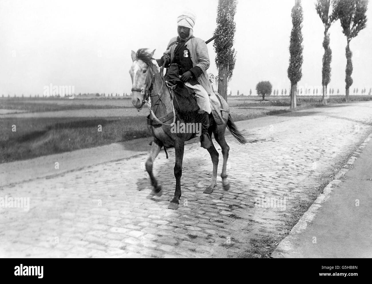 World War One - Orchies - France - 1914 - Stock Image
