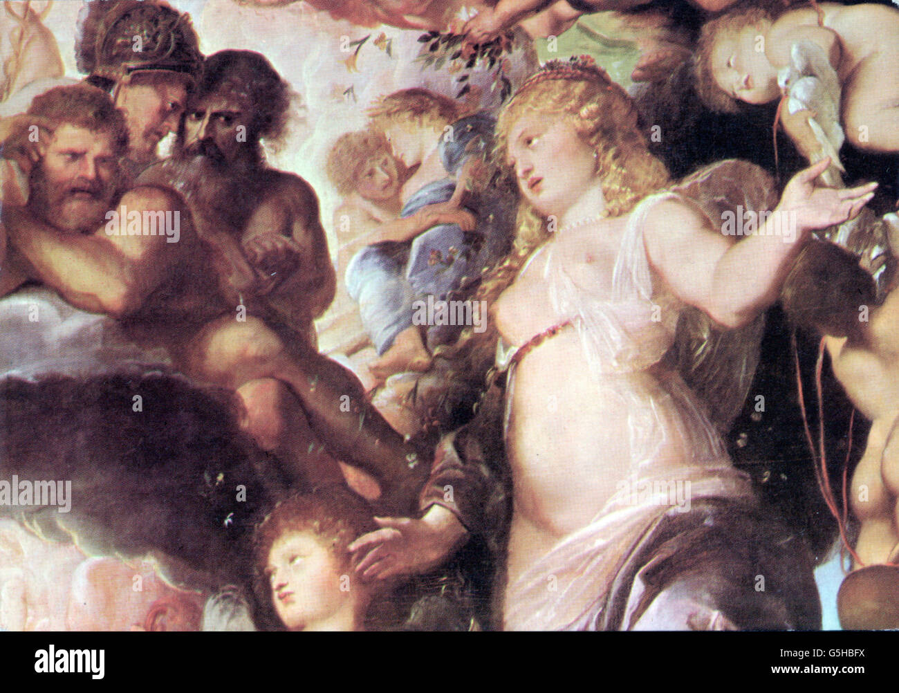 religion, ancient world, Greek mythology, 'The Council of the Gods', painting by Peter Paul Rubens (1577 - Stock Image