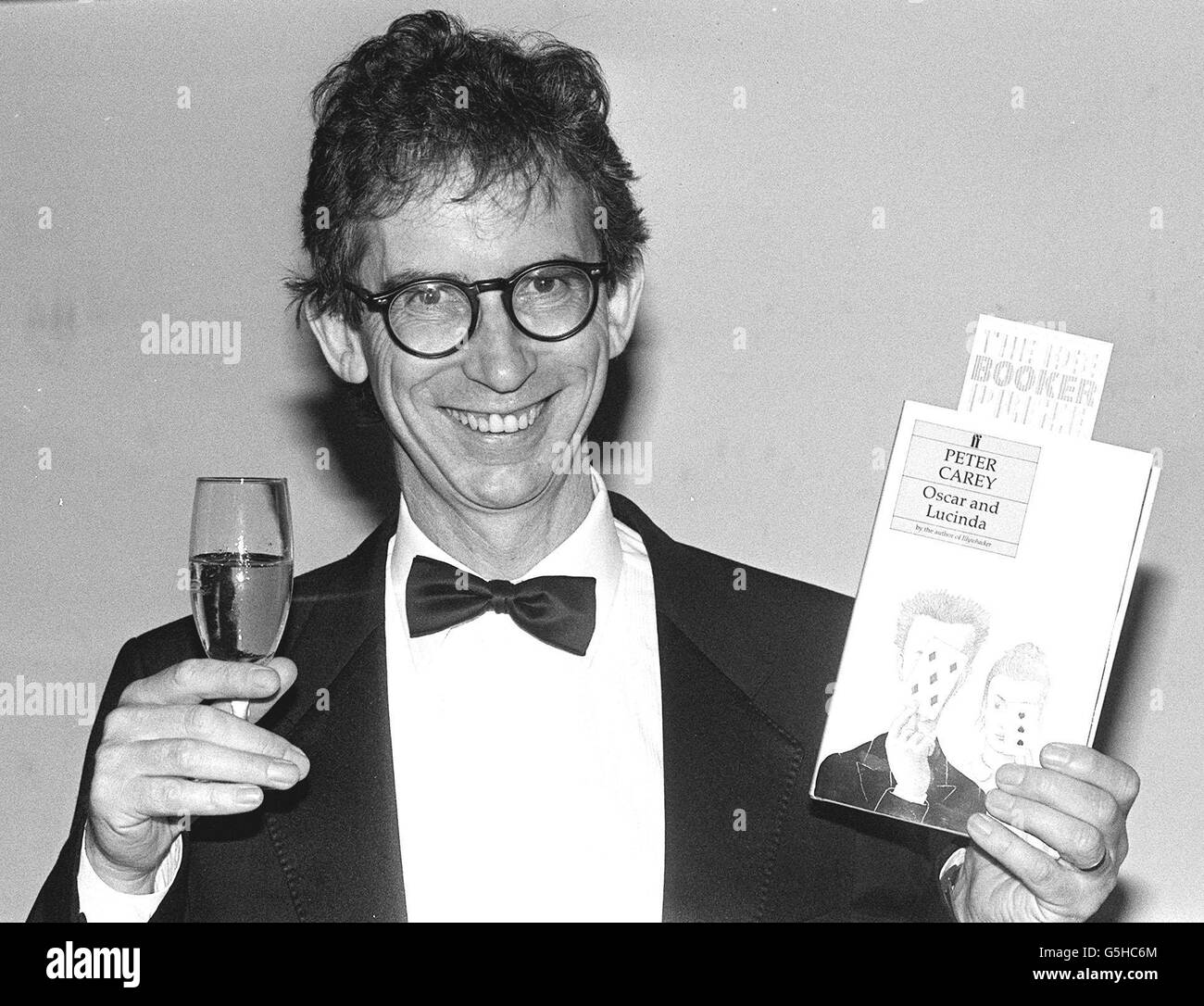 Peter Carey 1988 Booker Prize - Stock Image