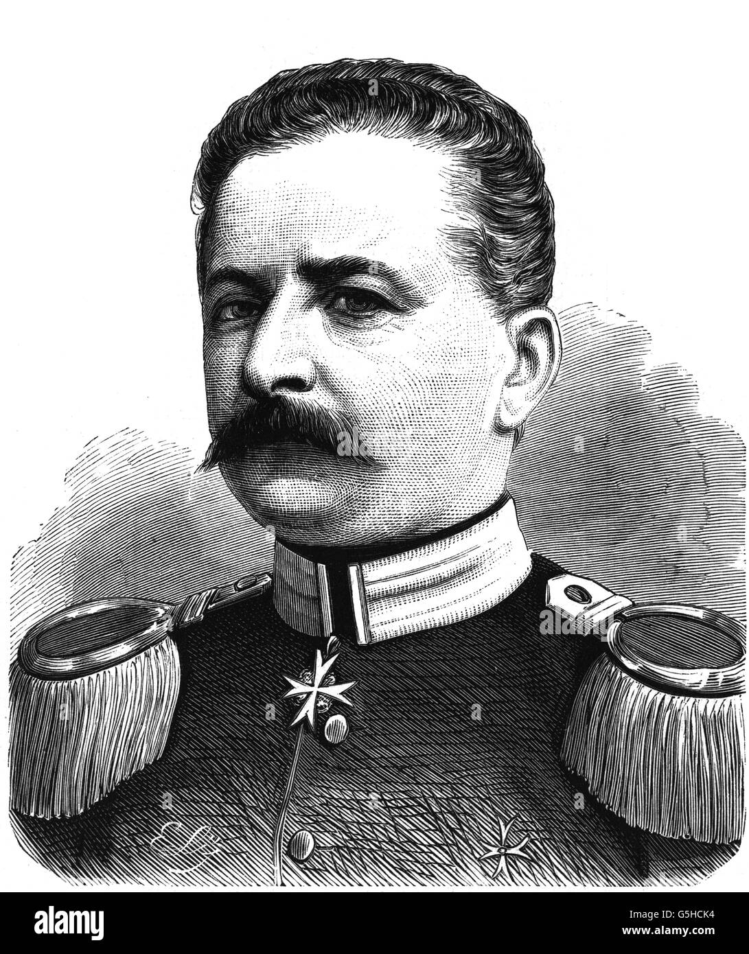 Waldersee, Alfred Count von 8.4.1832 - 5.3.1904, German general, Charge d'affaires of the German empire in Paris - Stock Image