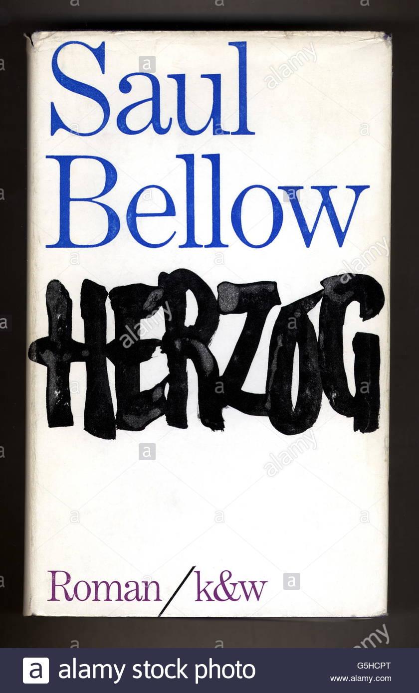"""book, Saul Bellow: """"Herzog"""", novel, first German edition, Kiepenheuer & Witsch, Cologne / Berlin, 1965, cover design: Stock Photo"""