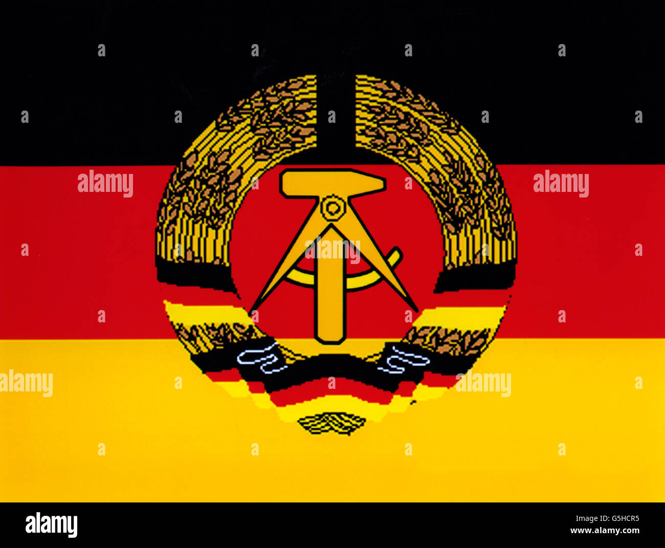 East German Flag Gdr Flag Stock Photos & East German Flag