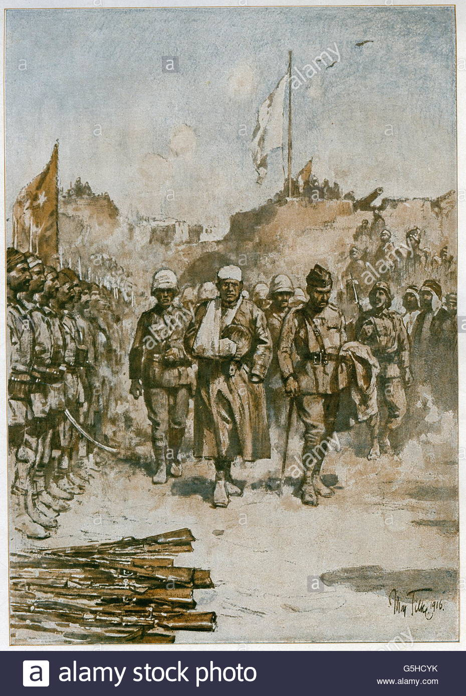 events, First World War/WWI, Middle East, siege of Kut 7.12.1915 - 29.4.1916, Artist's Copyright must also be - Stock Image