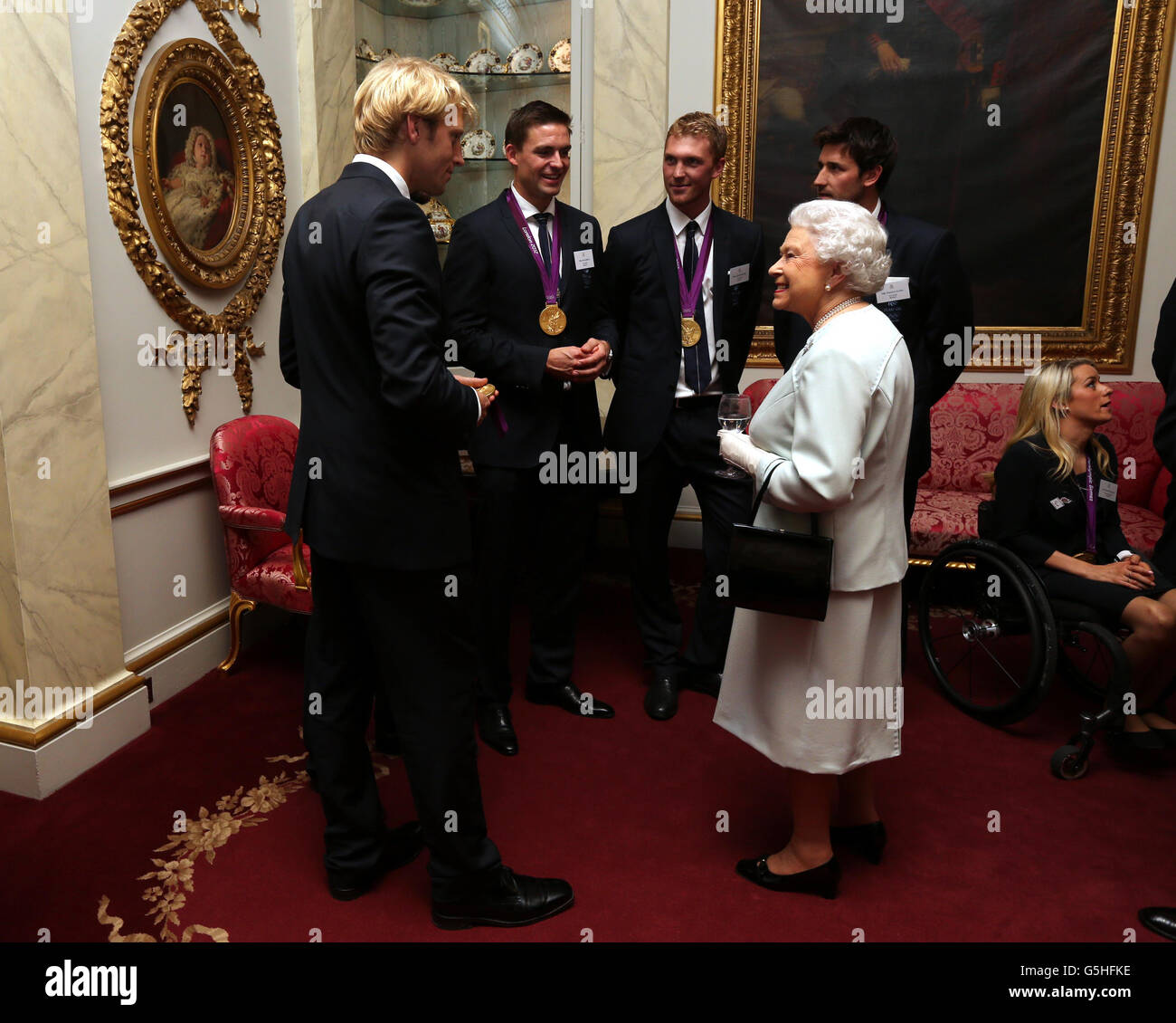 Royal reception for Team GB Medallists - Stock Image