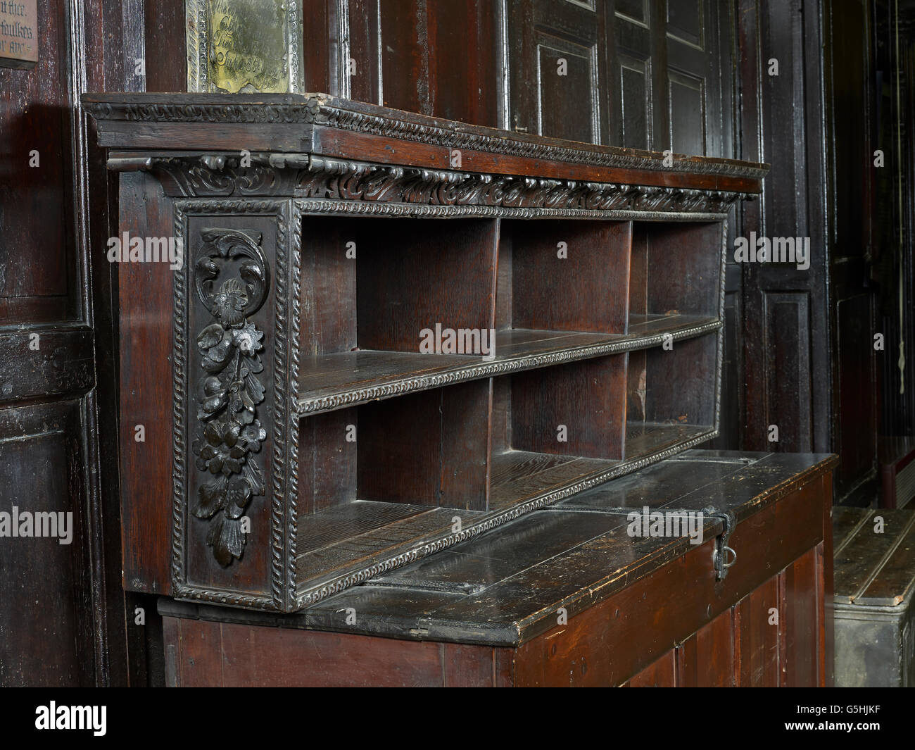 St Martin within Ludgate, church in the City of London,  bread shelves - Stock Image