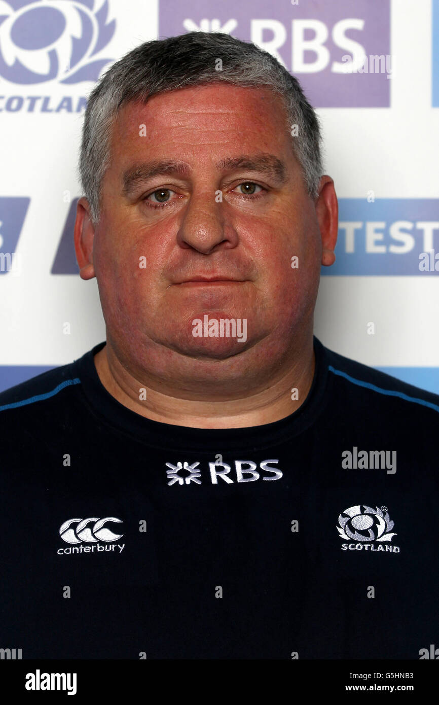 Rugby Union - Scotland Photocall - Murrayfield - Stock Image