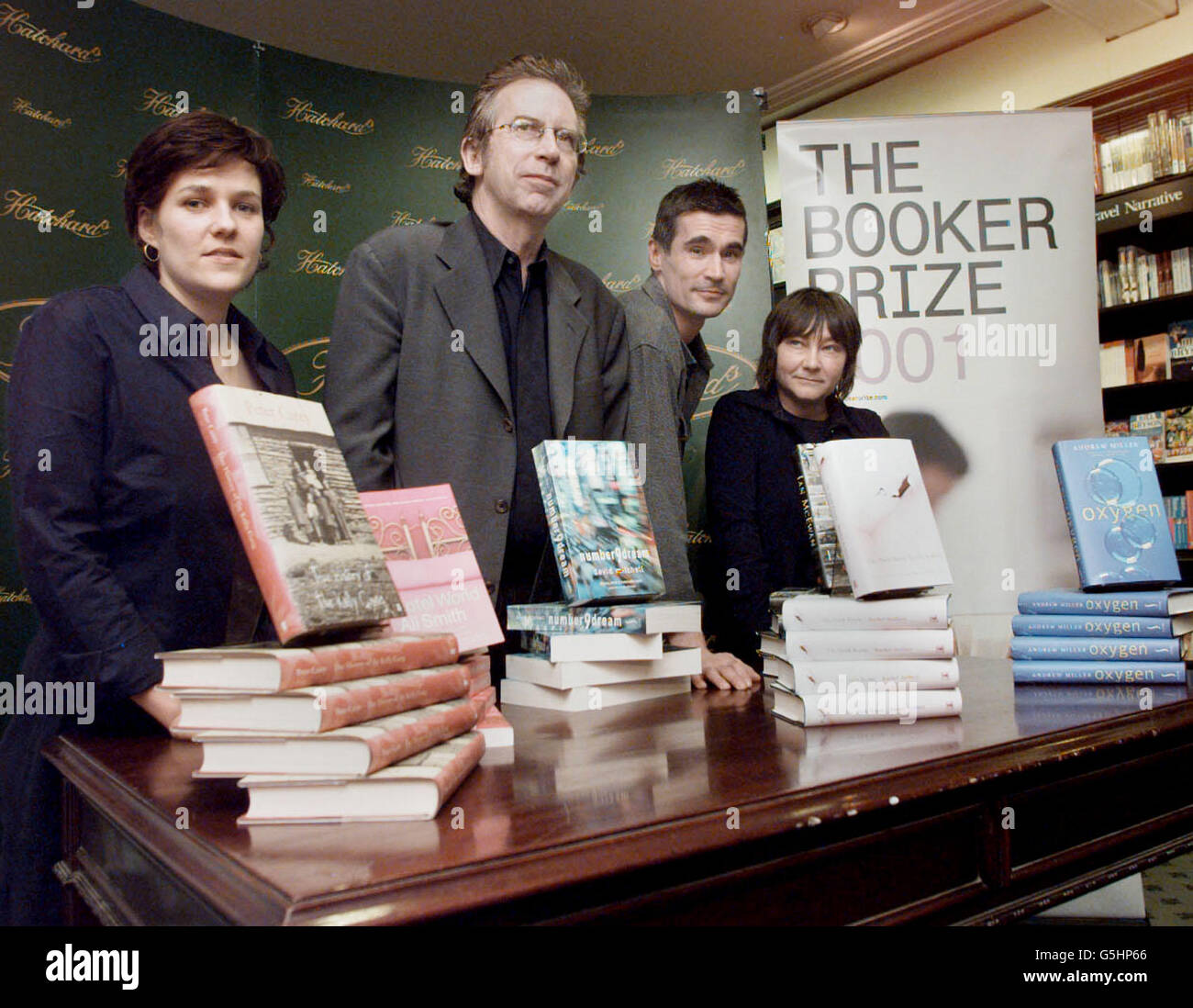Booker Prize 2001 Shortlist - Stock Image