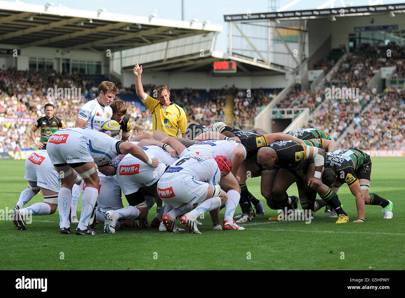 Rugby Union - Aviva Premiership - Northampton Saints v Exeter Chiefs - Franklin's Gardens - Stock Image