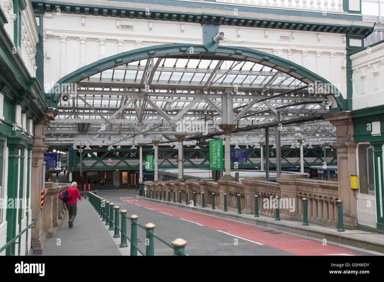 Waverley Railway Station; Edinburgh; Scotland, UK Stock Photo