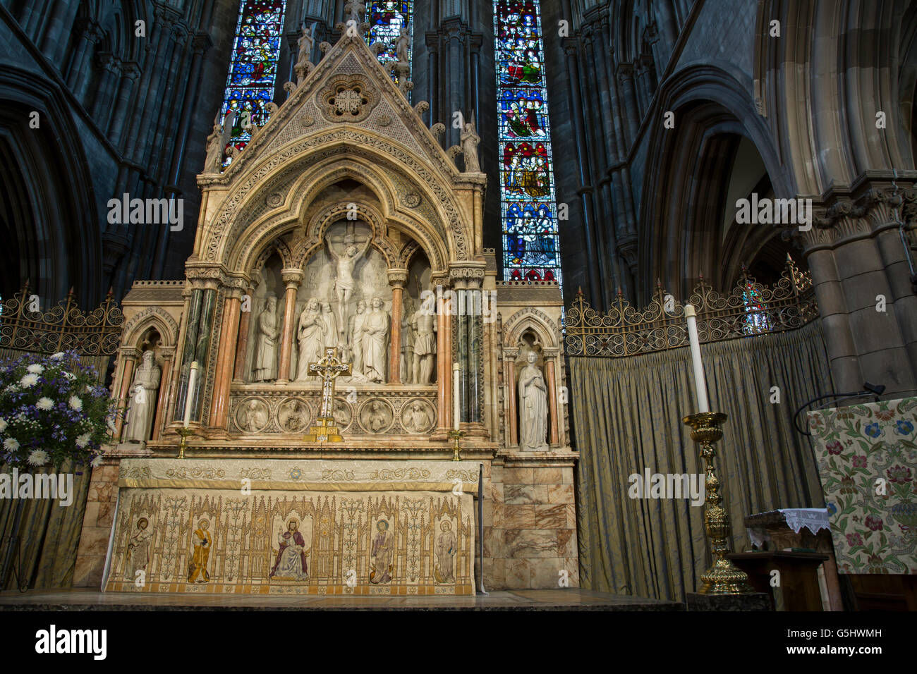 Interior St Marys Cathedral Edinburgh Stock Photos ...