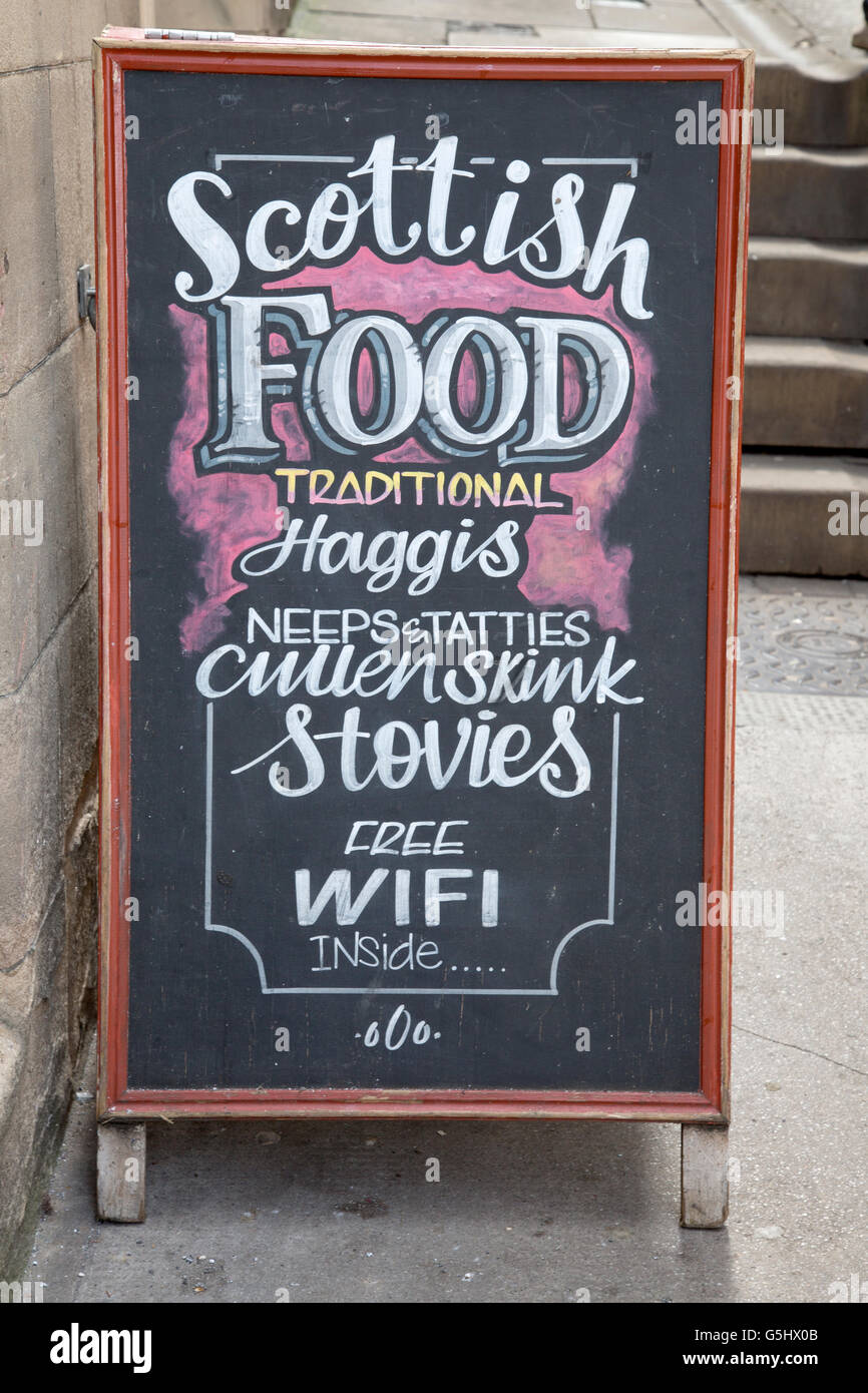 Halfway House Scottish Pub Sign, Edinburgh, Scotland, UK - Stock Image
