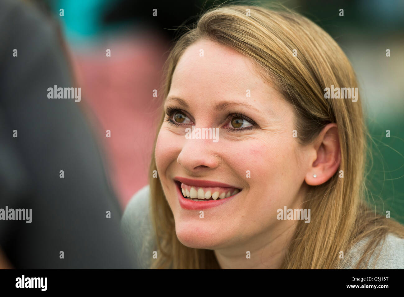 Laura Bates: British feminist writer. She founded the Everyday Sexism Project website in April 2012. Her first book, Everyday Sexism, was published in 2014  The Hay Festival of Literature and the Arts, Hay on Wye, Powys, Wales UK, June 03 2016 Stock Photo