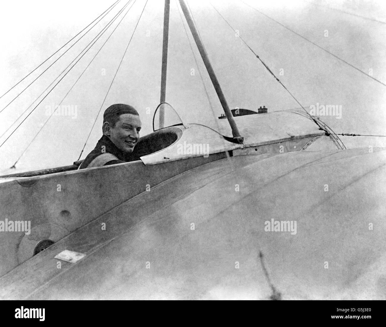World War One - Dutch Aviator - Anthony Fokker - Johannesthal Aerodrome - Stock Image