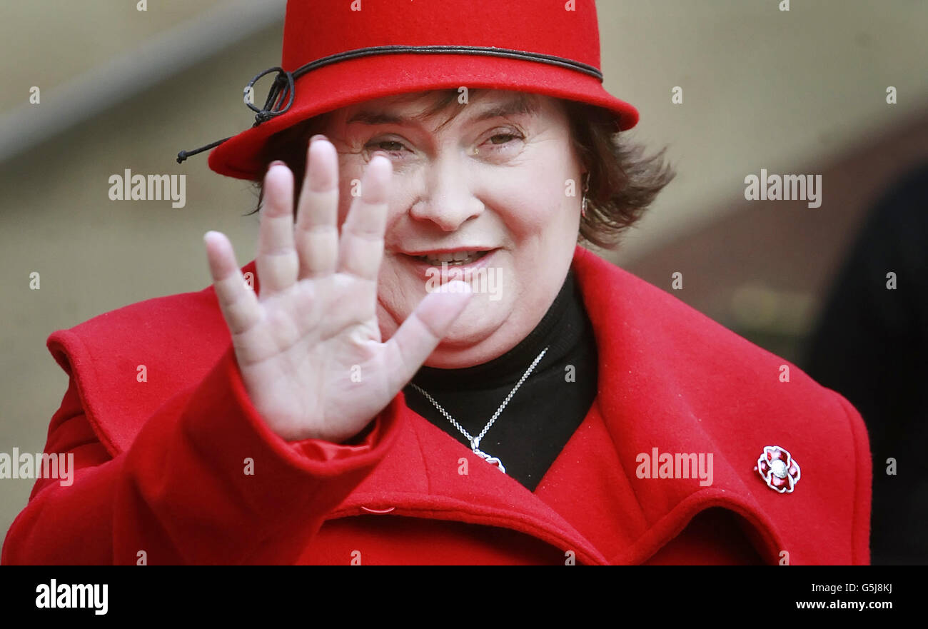 Susan Boyle at launch of Poppyscotland - Stock Image