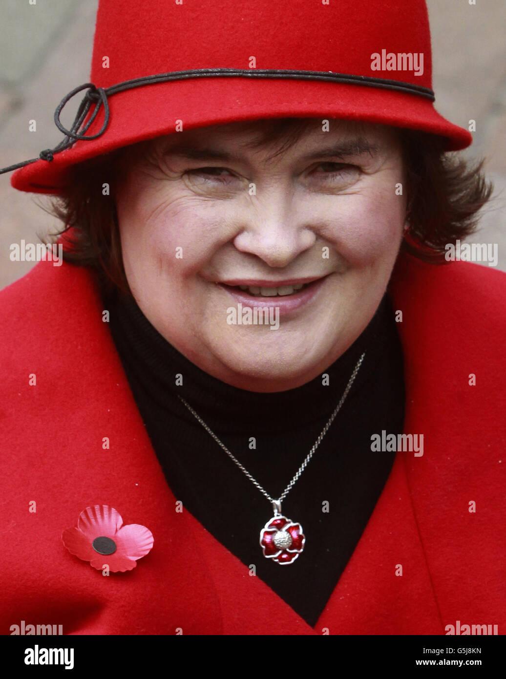 Susan Boyle at launch of Poppyscotland - Stock Image