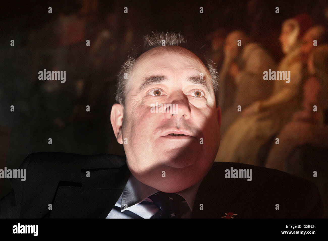 SNP leader becomes longest serving FM - Stock Image
