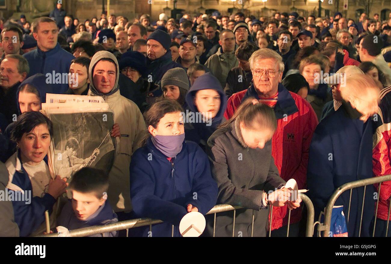 George Harrison vigil - Stock Image