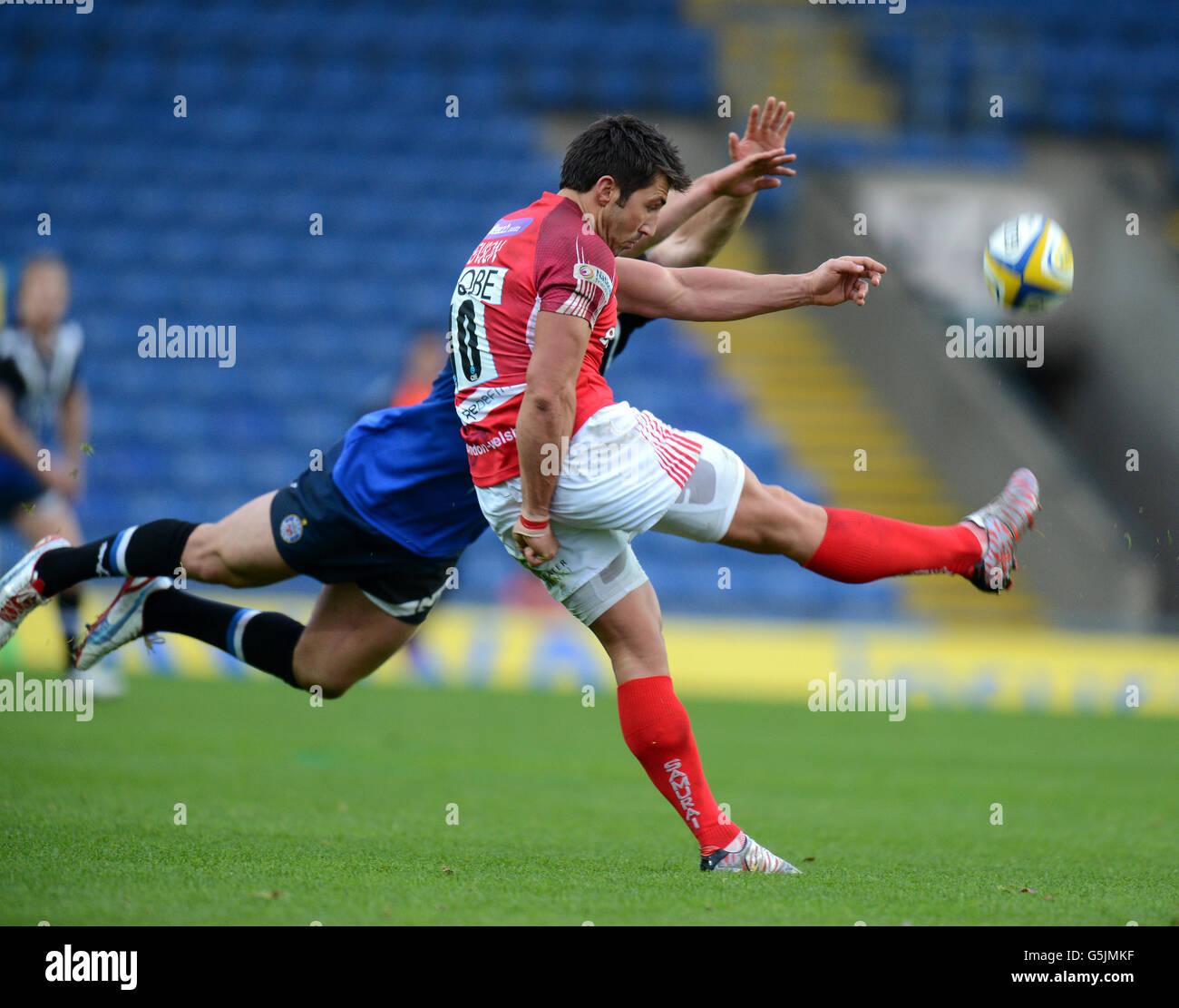 Rugby Union - Aviva Premiership - London Welsh v Bath Rugby - Kassam Stadium - Stock Image