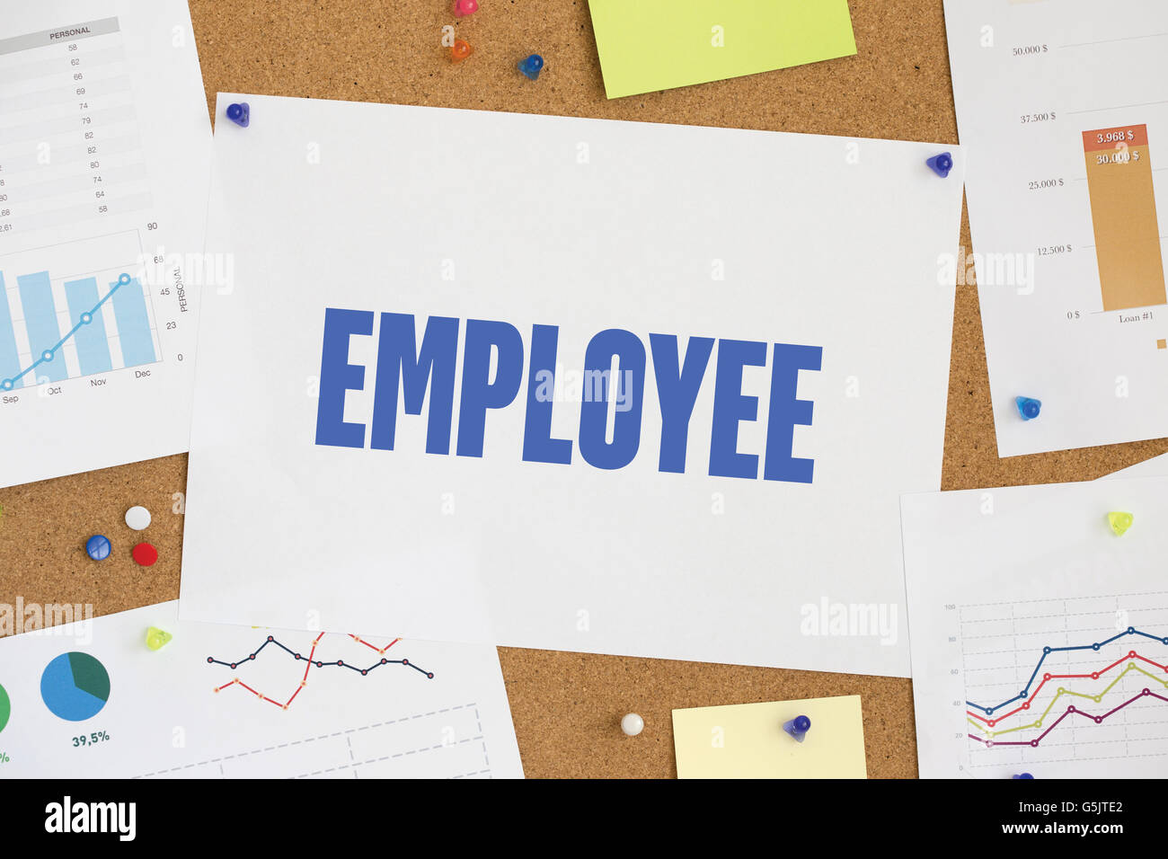 CHART BUSINESS GRAPH RESULT COMPANY EMPLOYEE CONCEPT - Stock Image