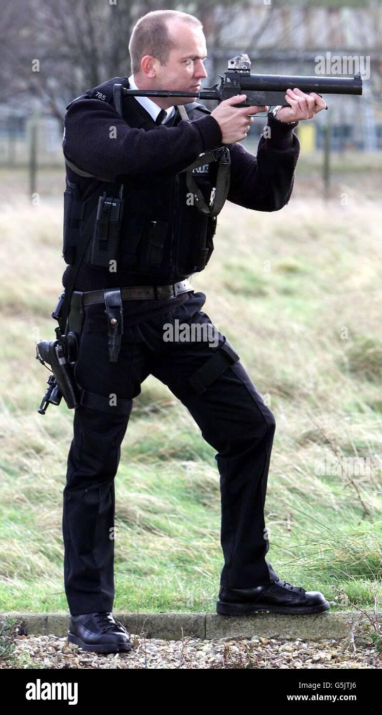 Heckler Koch baton gun - Stock Image