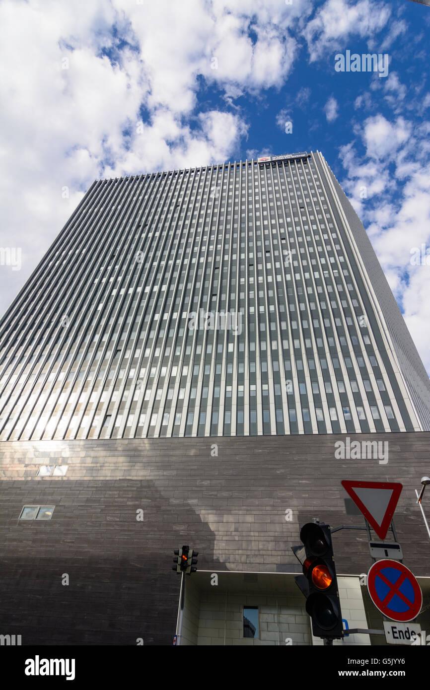 Corporate headquarters of Wiener Stadtwerke Holding AG in the office area TownTown in Erdberg, Wien, Vienna, Austria, - Stock Image