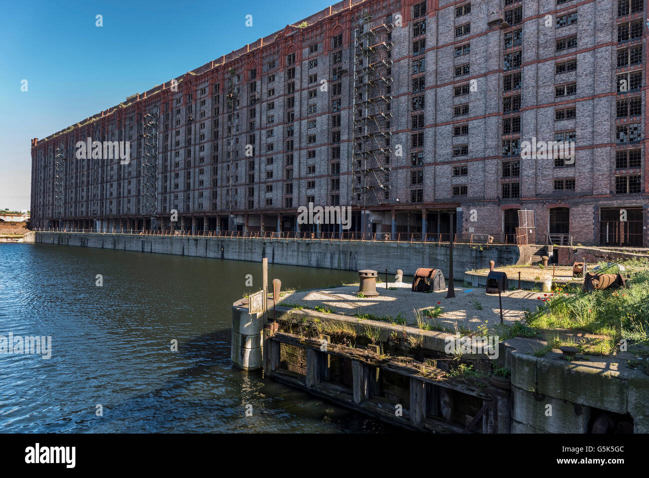 Liverpool Merseyside North West England The Stanley dock former tobacco warehouse. Used in many TV films as a location. Stock Photo