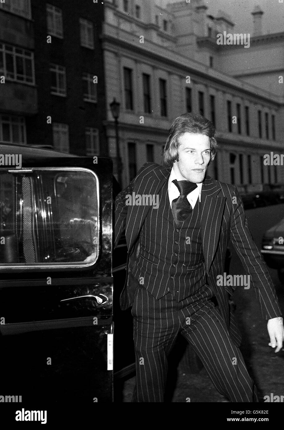 Andy Gray misconduct hearing : 1977 - Stock Image