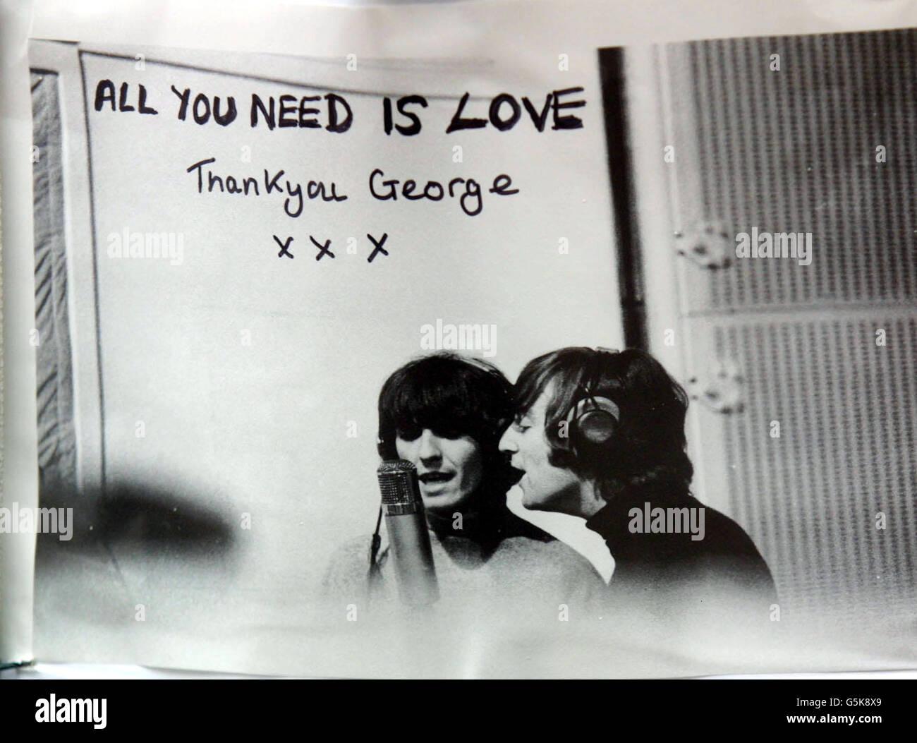 George Harrison Death - Stock Image