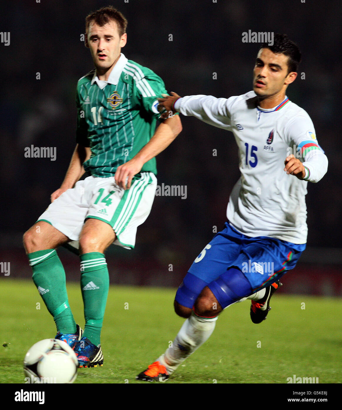 Republic Of Ireland V Azerbaijan: Niall Mcginn Northern Ireland International Stock Photos