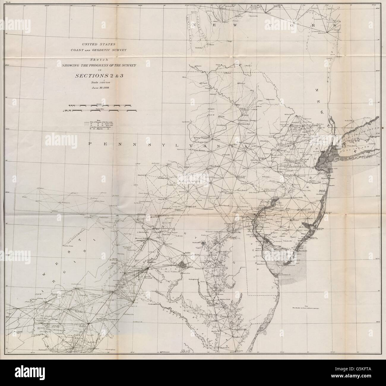 Chesapeake Bay On Map Of Usa.Usa East Survey Chesapeake Bay Delaware Bay Maryland Stock Photo