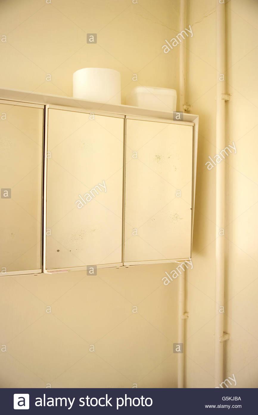 Bathroom Cabinet - Stock Image