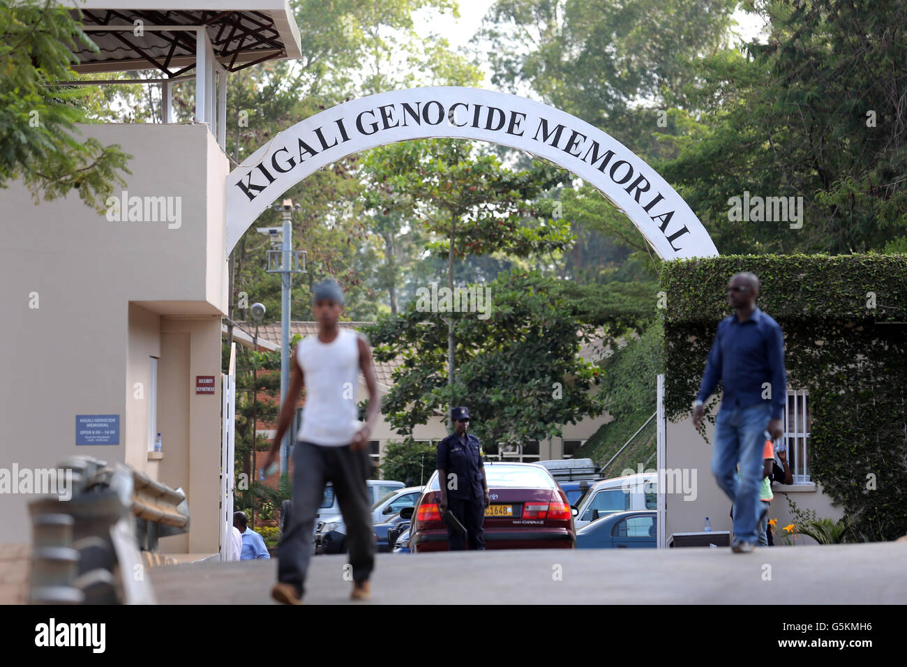 Entrance to the Kigali Memorial Centre, genocide museum of Kigali, Rwanda, Africa - Stock Image