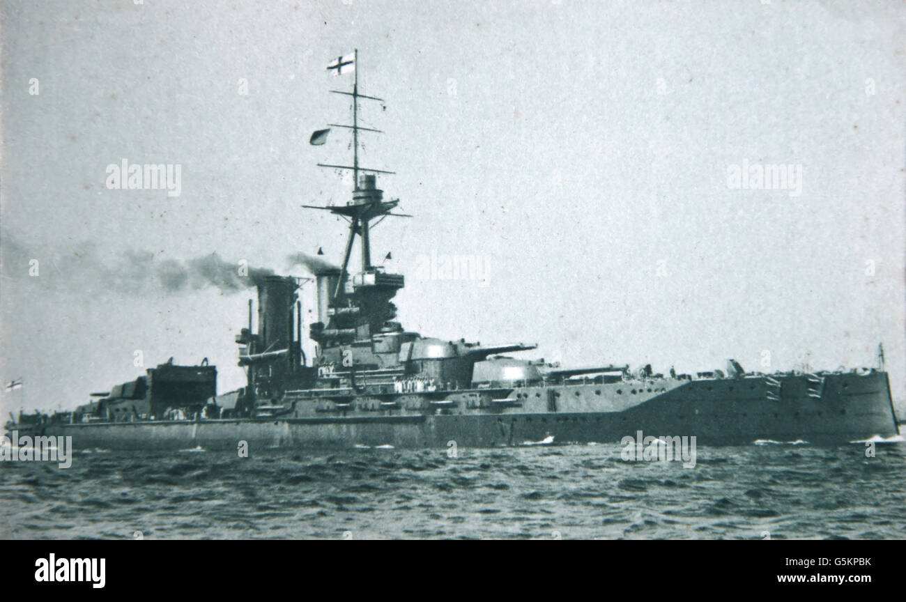 'HMS Iron Duke', dreadnought battleship of the Royal Navy, - Stock Image