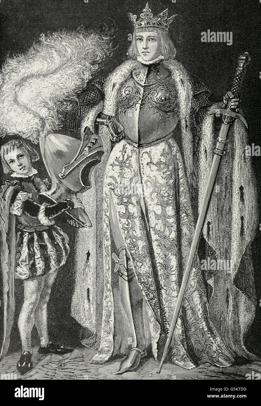 Queen Isabella in her armor Spain circa 1490 - Stock Image  sc 1 st  Alamy & Queen Isabella Of Spain Stock Photos u0026 Queen Isabella Of Spain Stock ...