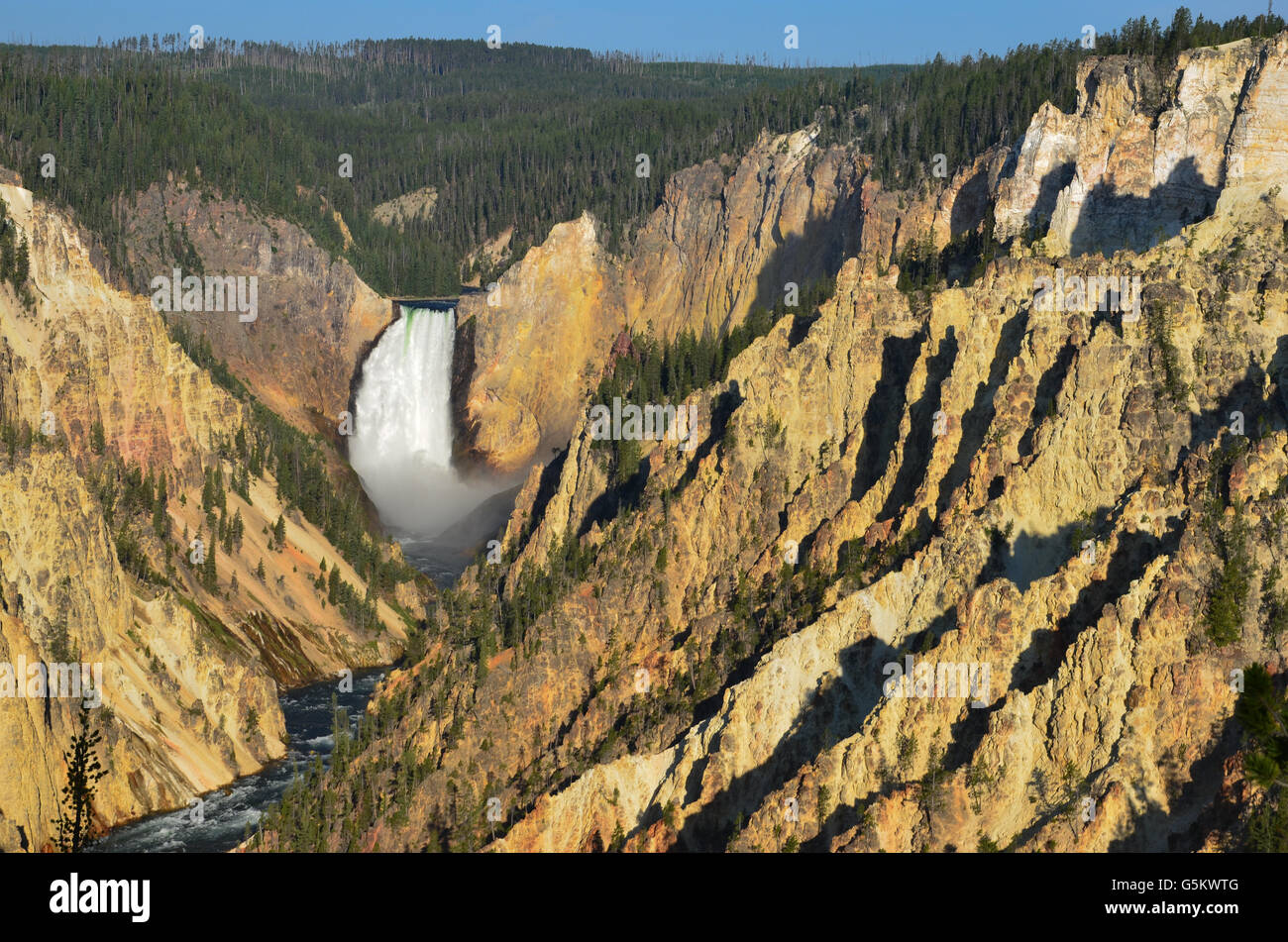 Artists ppoint, Yellowstone national park. - Stock Image
