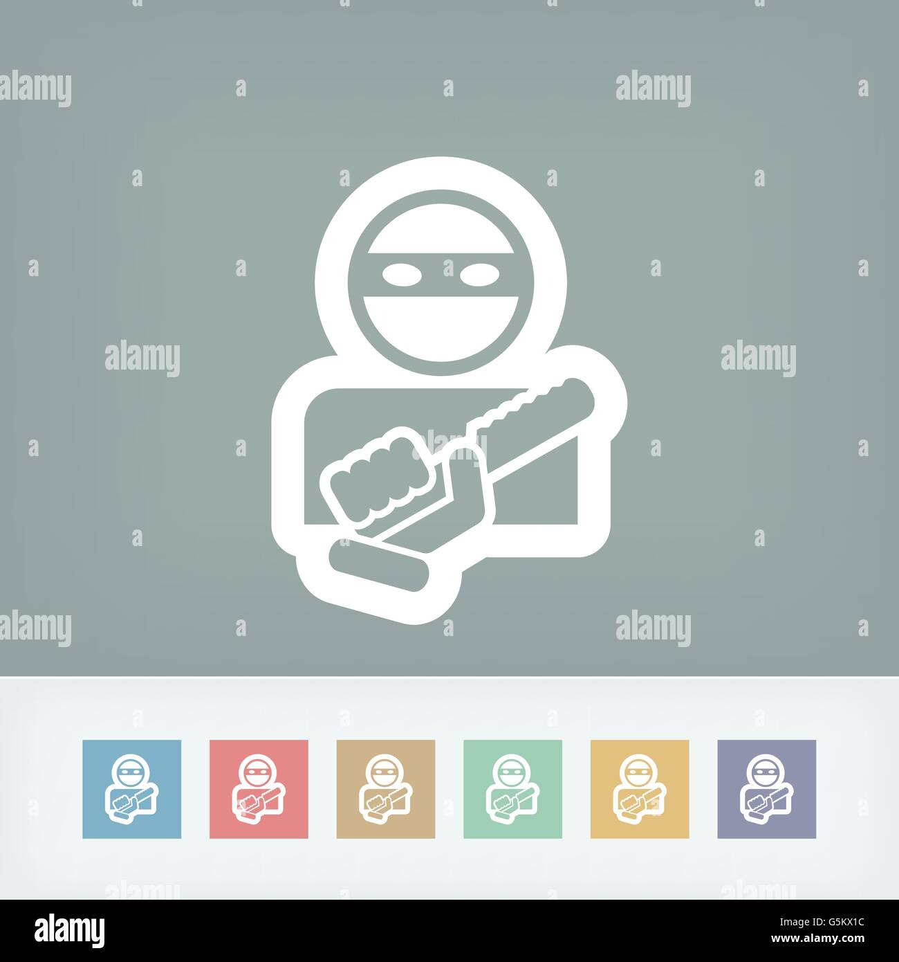 Armed bandit icon - Stock Vector