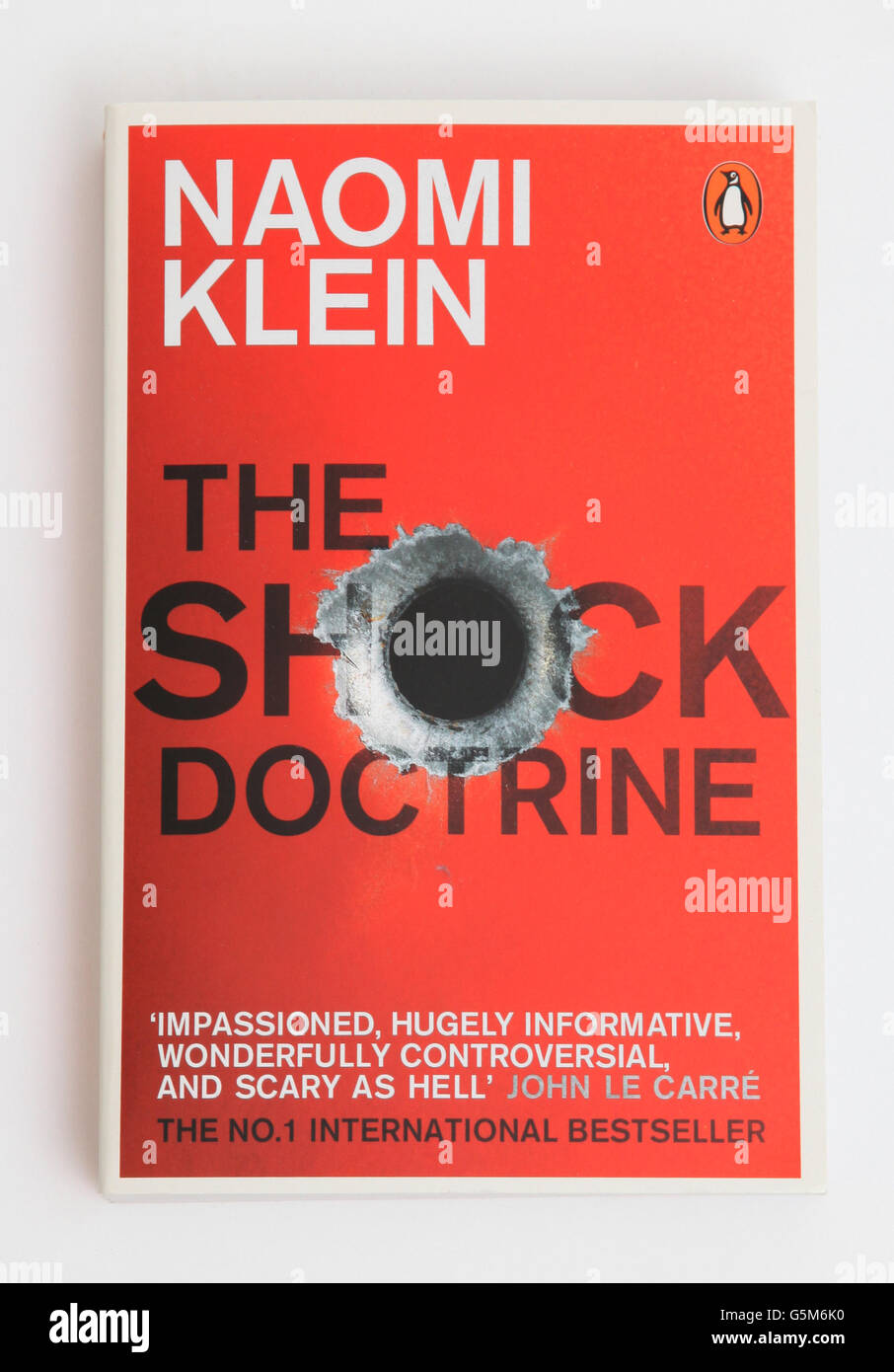 The book The Shock Doctrine by Naomi Klein - Stock Image
