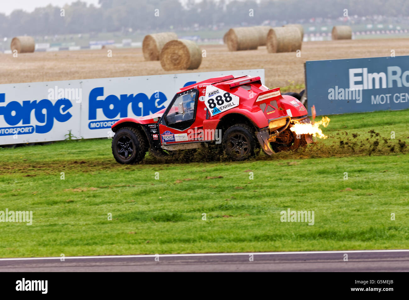 All Wheel Drive Club off-road display at Castle Combe Rallyday 2015. - Stock Image