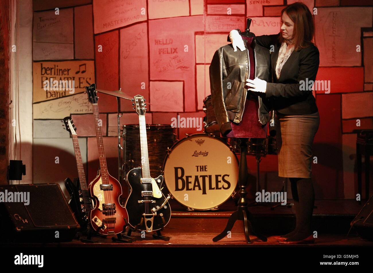 George Harrison jacket sale - Stock Image