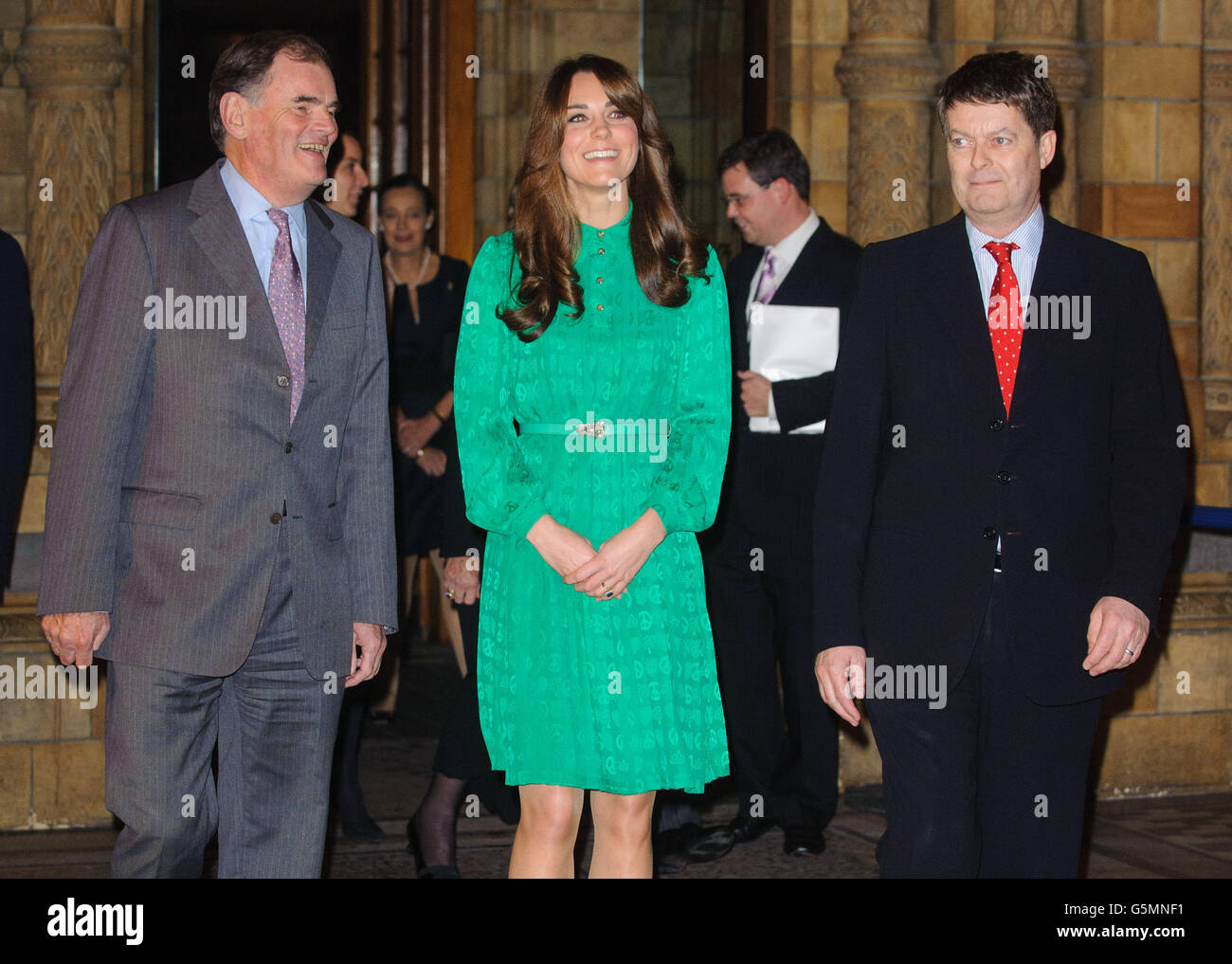 Kate opens Natural History Museum gallery - Stock Image