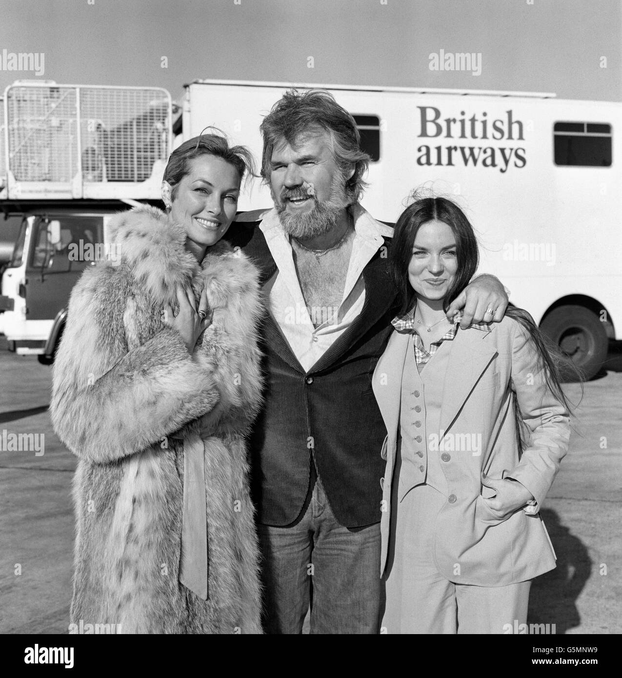 Kenny Rodgers and Crystal Gayle - Heathrow Airport - London - Stock Image