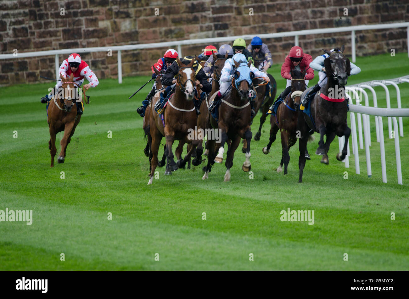 Horse racing in Chester 11th June 2016. - Stock Image