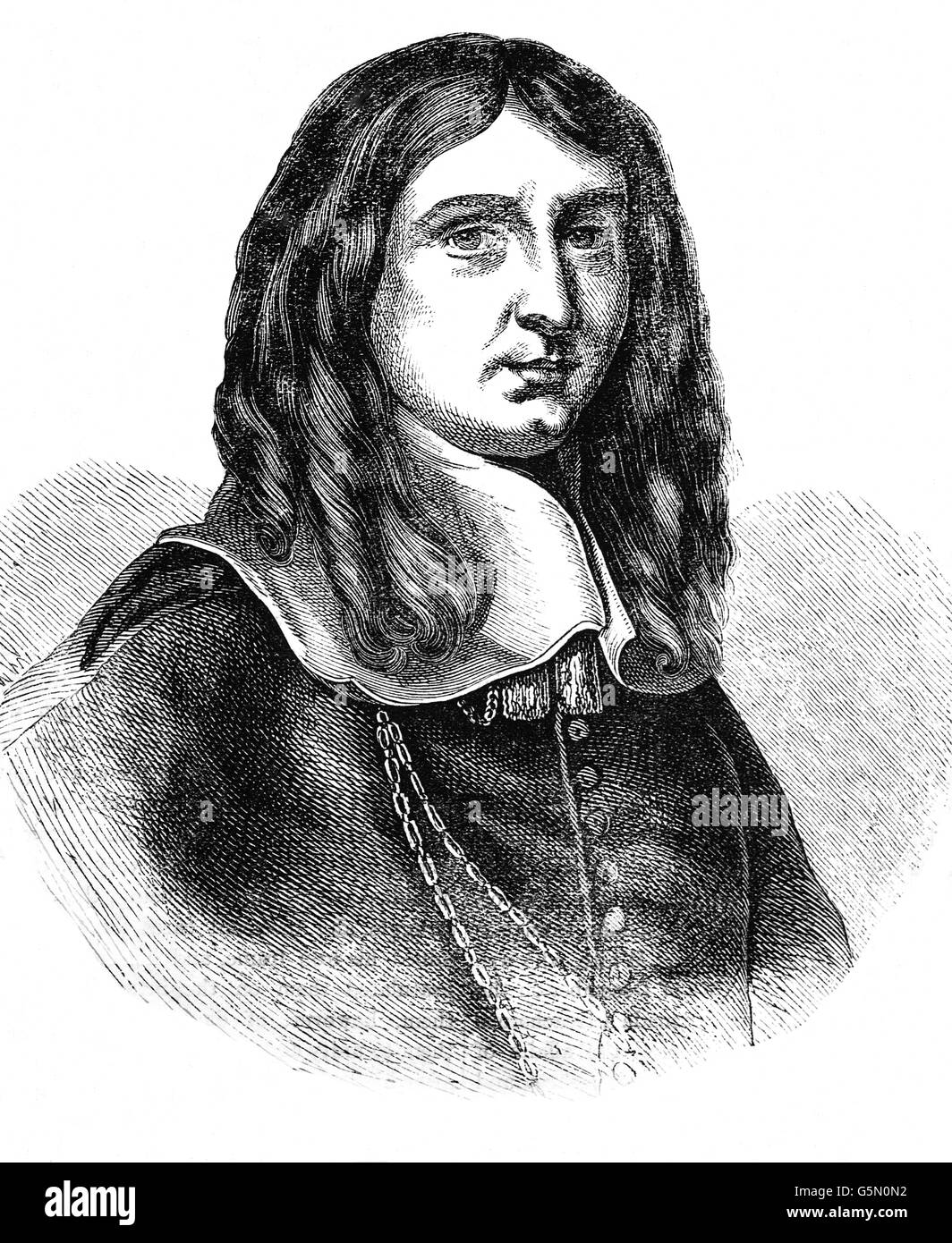 Richard Cromwell (1626 – 1712) was Lord Protector of England, Scotland and Ireland.  With his father, Oliver, from - Stock Image
