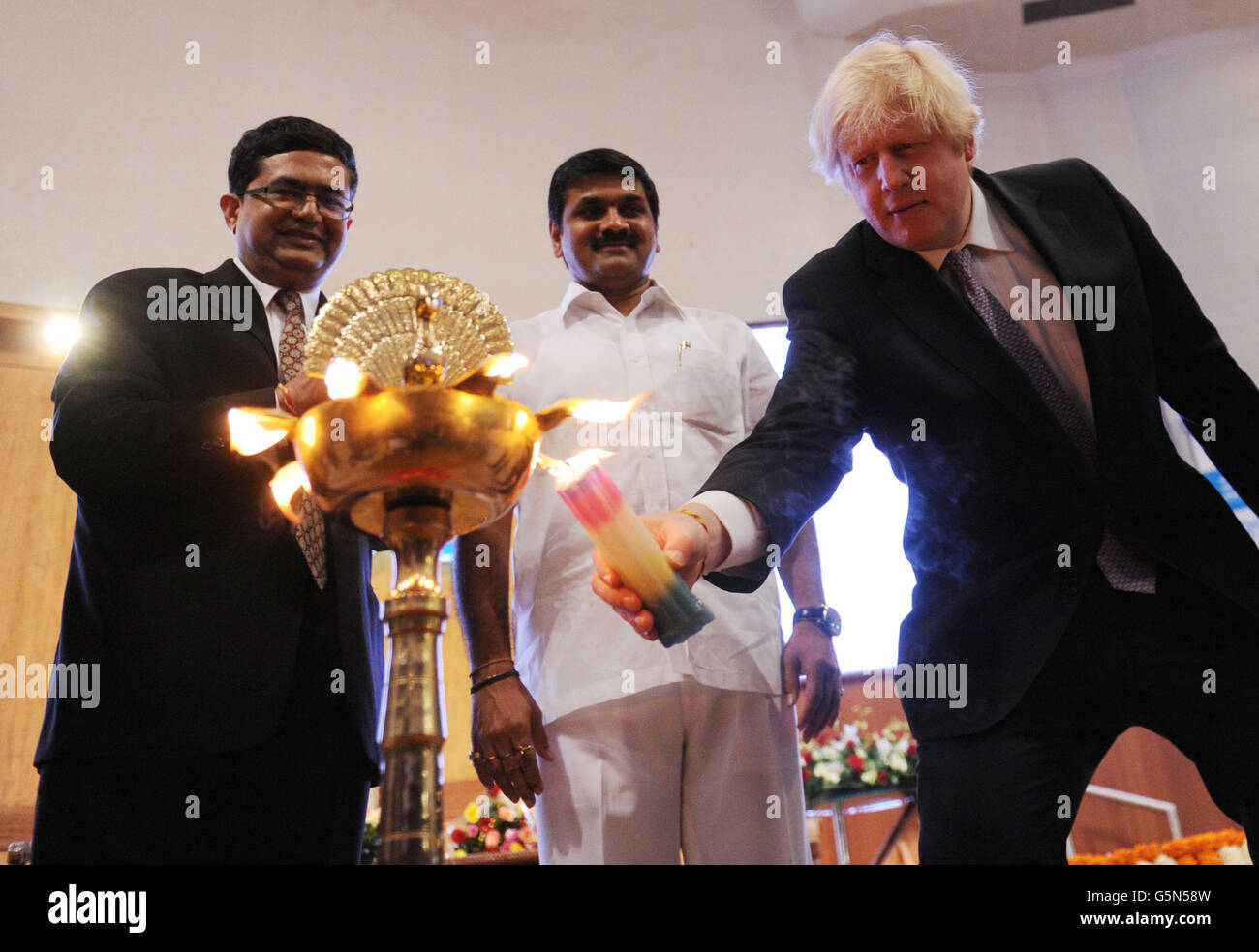 Boris Johnson visits India - Day 6 - Stock Image